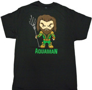Justice League Movie Aquaman With Trident Adult T-Shirt