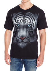 Majestic White Tiger Adult T-Shirt