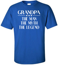 Grandpa The Man The Myth The Legend Adult T-Shirt