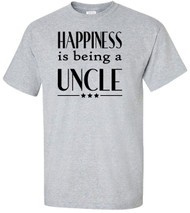 Happiness Is Being A Uncle Adult T-Shirt