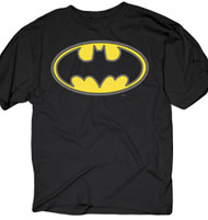 Batman Oval Puff Logo Adult T-Shirt