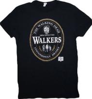 Walking Dead The Walkers Oval Label Adult T-Shirt