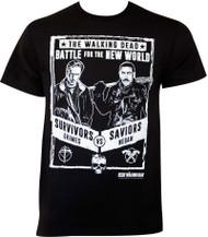 Walking Dead Grimes Vs Negan Poster Adult T-Shirt