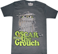 Sesame Street Oscar Grouch Can Adult T-Shirt