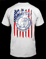 JL Billet In Chips We Trust Flag Shirt - White