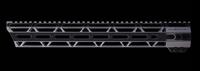 "JL Billet 15"" AR15 LRG  Angled M-Lok Free-Float Handguard"