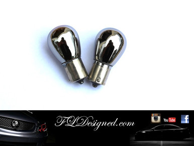 Holden Ve commodore FLD Chrome Indicator Bulbs by FL Designed to remove the Orange tinge from your headlights/ tail lights