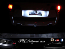 FL Designed Ve Bright White Number Plate L.E.D Light Bulbs by FLD for Holden and HSV Models