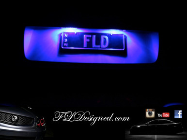 Holden Ve Blue Numberplate L.E.D Bulbs to suite all ve models including HSV clubsport, Maloo, gts