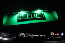 Holden Ve Green L.E.D Number Plate Lights to suite all Ve Models including HSV maloo, clubsport, gts