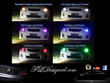 FL Designed aka FLD Holden Ve Parker Lights to suite all models: HSV, ssv, ss, sv6, omega, calais etc  www.fldesigned.com