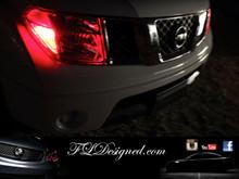 Red Nissan Navara L.E.D Parker Light Bulbs by FLDesigned.com aka FLD