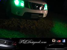 Nissan Navara Green L.E.D Parker Light Bulbs by FL Designed aka FLD