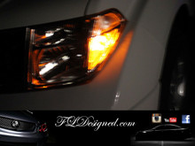 Amber (orange) Nissan Navara L.E.D Bulbs by FL Designed.com aka FLD