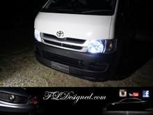 Toyota Hiace Bright White L.E.D Parker light bulbs by FL Designed aka FLD