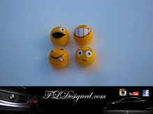 """Mixed emotions"" Tyre Valve caps by FLdesigned aka FLD www.fldesigned.com"