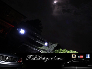 Holden Colorado Second generation Bright White Parker bulbs by FL Designed aka FLD to suite DX, LX, LT, LTZ
