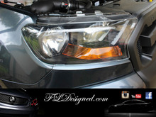 Ford PX II Ranger Clear headlight Protrectors by FLDesigned aka FLD