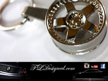 Chrome rim Key ring by FLDesigned aka FLD www.fldesigned.com