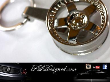 Chrome rim Key ring by FLDesigned aka FLD www.fldesigned.com
