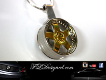 Gold Rim Key Ring by FLDesigned aka FLD www.fldesigned.com