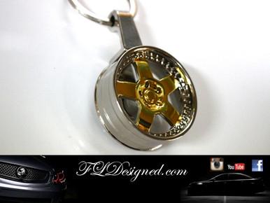 Gold Rim Key Ring by FLDesigned aka FLD www.fldesigned.com