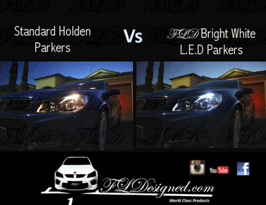Holden Vf bright white l.e.d parks by FLDesigned aka FLD www.fldesigned.com  SS, SSV, SV6, Omega