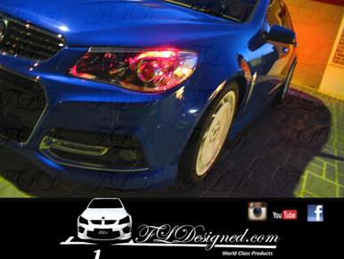 Holden Vf Red l.e.d parker lights by FL Designed aka FLD www.fldesigned.com  SS, SSV, SV6, Omega