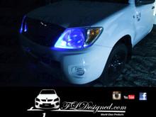 Toyota Hilux Blue l.e.d parkers by FLDesigned aka FLD www.fldesigned.com