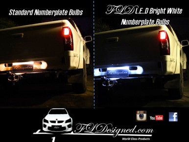 Holden Rodeo 03-08 L.e.d numberplate bulbs by FL Designed aka FLD  www.fldesigned.com
