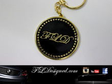 FLD Key Ring Gold/Black www.fldesigned.com