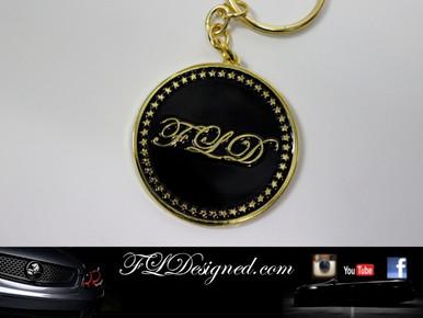 FLD Key Ring Gold/Black www.fldesigned.com