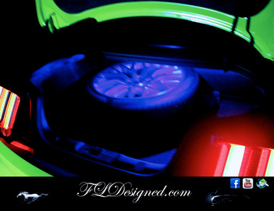 Ford Mustang Boot/ Trunk L.E.D Bulb- BLUE by FLdesigned  Get yours now at www.fldesigned.com
