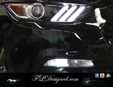 2015-2017 Ford Mustang L.E.D Parker bulbs- Bright White by FL designed  www.fldesigned.com