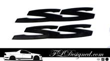 Holden Ve/ VF Matte Black SS Badges by FLDesigned
