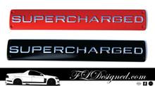 Large Supercharged Red Or Black Badges By FLDesigned