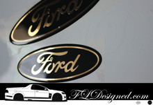 Ford FG models Front and Rear Sticker Decals - Black & Gold