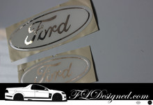 Ford FG models Front and Rear Sticker Decals - White & Chrome