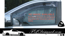 1985-1986 Toyota Cressida GX71, MX73  - Monsoon Weather Shields / Rain guards/ shields (2 pcs)