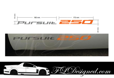 Tickford Pursuit 250 Ute Side Skirt Decals- Ford Falcon by FL Designed