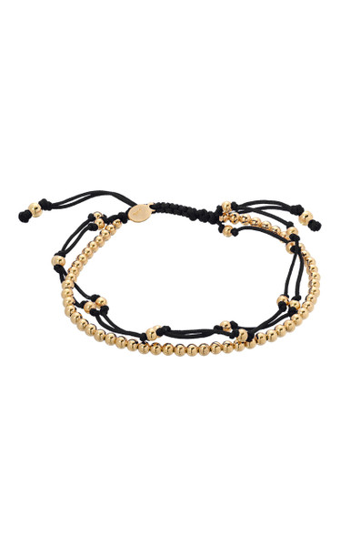 Black trio fortune bracelet