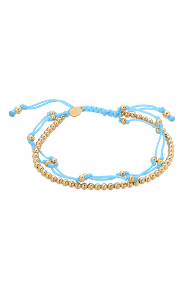 Blue trio fortune bracelet