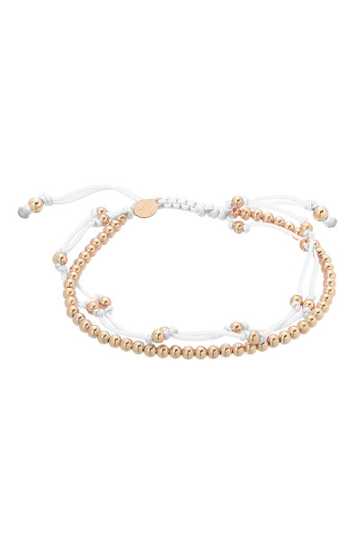 White trio fortune bracelet