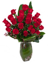 Signature Two Dozen Red Roses Bouquet