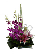 Elegant Lilies and Orchids