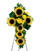 Sunflower Cross Wreath