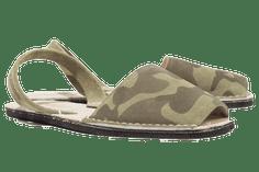 Menorcan Sandals - Khaki Camo Suede Unisex - Solillas