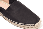 Black suede men's espadrilles by Solillas