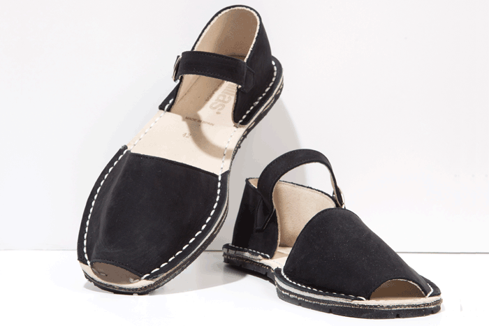 Black Mens Menorcan Sandals - Solillas