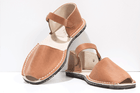 Chestnut Brown Leather Mens Menorcan Sandals - Solillas